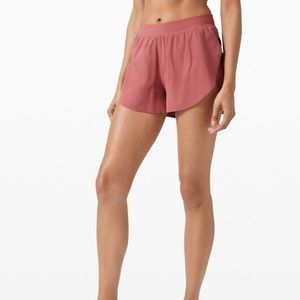 Lululemon Find Your Pace Shorts 3' in Cherry Tint